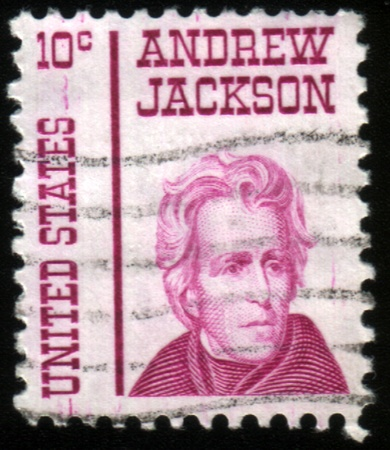 usps: USA - CIRCA 1930: A stamp printed in USA shows Portrait President Andrew Jackson, circa 1930.