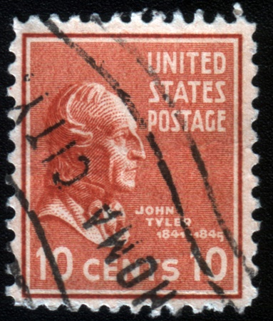 united states postal service: UNITED STATES OF AMERICA - CIRCA 1971: A stamp printed in the United States of America shows President Dwight Eisenhower, series, circa 1971 Editorial