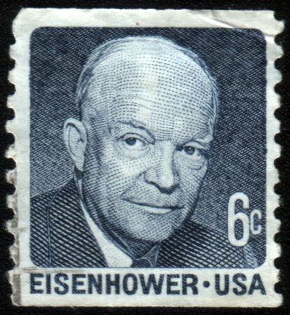 UNITED STATES - CIRCA 1986: stamp prinUNITED STATES OF AMERICA - CIRCA 1971: A stamp printed in the United States of America shows President Dwight Eisenhower, series, circa 1971ted by United states, shows Father Flanagan, circa 1986