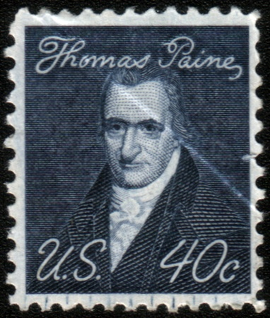 robert: USA - CIRCA 1968: A stamp printed in USA from the Prominent Americans issue showing a portrait of author Thomas Paine (by John Wesley Jarvis), circa 1968.