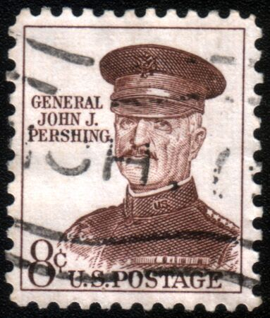 pershing: USA - CIRCA 1960: stamp printed in the USA shows John J. Pershing, general officer in U.S. Army who led American Expeditionary Forces in World War I, circa 1960