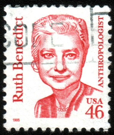 UNITED STATES OF AMERICA - CIRCA 1971: A stamp printed in the United States of America shows Ruth Benedict, circa 1971