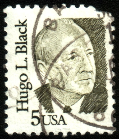 hugo: USA-CIRCA 1970:A stamp printed in USA shows image of the Hugo LaFayette Black (February 27, 1886 - September 25, 1971) was an American politician and jurist, circa 1970. Editorial