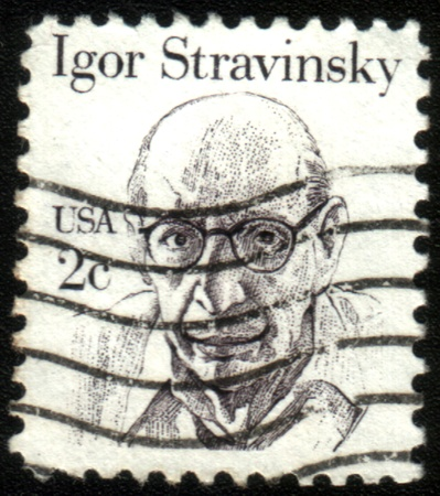 UNITED STATES - CIRCA 1980: stamp printed by United states, shows Igor Stravinsky, circa 1980 Stock Photo - 13456034