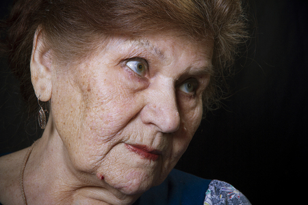 view of an old woman photo