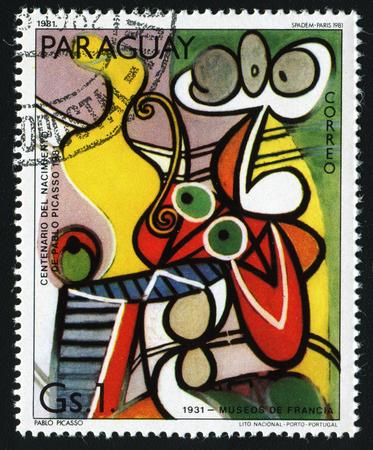 """pablo: PARAGUAY - CIRCA 1981: Un francobollo stampato in Paraguay mostra pittura di Pablo Picasso """"Nude e Still Life"""" (1931), circa 1981. Editoriali"""
