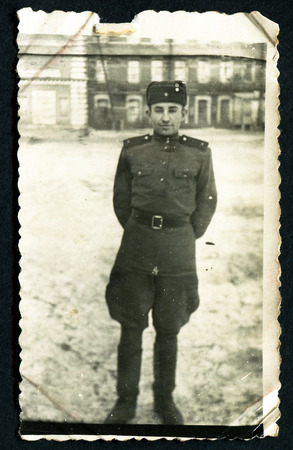 USSR - CIRCA 1953:  Photo shows Soviet soldier.  USSR, 1953