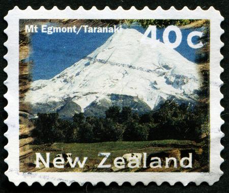 egmont: NEW ZEALAND - CIRCA 1996: A stamp printed by New Zealand, shows Scenic Views Type, Mt. Egmont, Taranaki, circa 1996