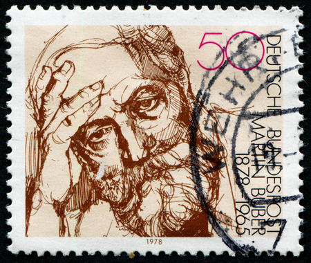 zionist: GERMANY - CIRCA 1978: A stamp printed in Germany shows portrait Martin Buber, circa 1978. Editorial