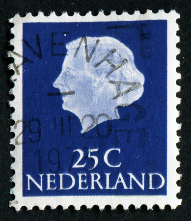 juliana: NETHERLANDS - CIRCA 1971: Postage stamp printed in the Netherlands, shows Queen Juliana, circa 1971