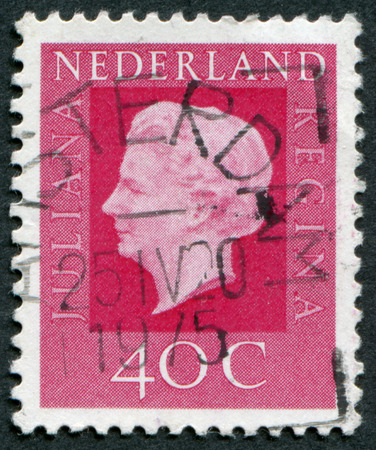 juliana: NETHERLANDS - CIRCA 1972: Postage stamp printed in the Netherlands, shows Queen Juliana, circa 1972