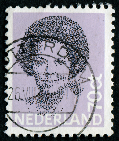 beatrix: NETHERLANDS - CIRCA 1984: A stamp printed in the Netherlands shows image of Queen Beatrix, 1984