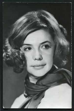 USSR - CIRCA 1960s: studio Portrait of a beautiful young woman, circa 1960s