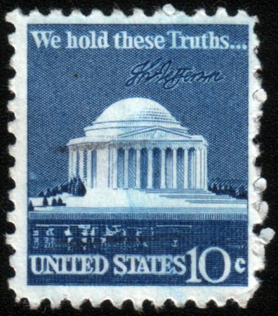 thomas: USA - CIRCA 1973: A stamp printed in USA shows Thomas Jefferson Memorial, circa 1973