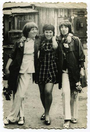 USSR - CIRCA 1960s: An antique photo shows portrait of a three women
