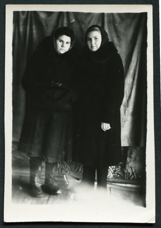 generational: USSR - CIRCA 1960s: An antique photo shows two women, USSR, circa 1960s