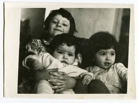 three sisters: USSR - CIRCA 1980s: Vintage photo shows three sisters