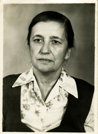 generational: USSR - CIRCA 1960s: An antique photo shows portrait middle-aged women