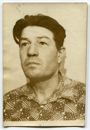 the ussr: USSR - CIRCA 1960s: An antique photo shows  middle aged man, USSR, circa 1960s