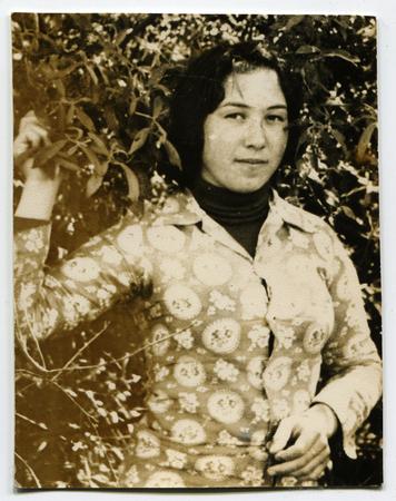 USSR - CIRCA 1960s: An antique photo shows woman in the garden, USSR, circa 1960s