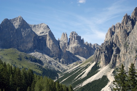 a great view of italian alps