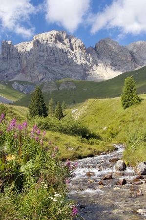 a river on italian alps Stock Photo