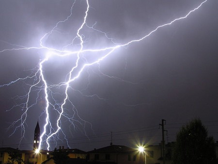a big lightning in a summer storm Stock Photo - 10397733