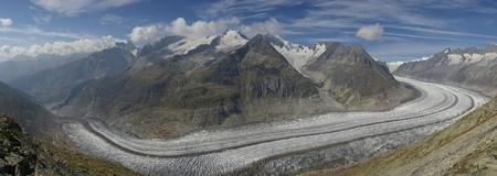 a big glacier on alps Stock Photo