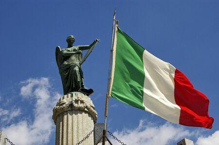 a nice view of italian flag Stock Photo