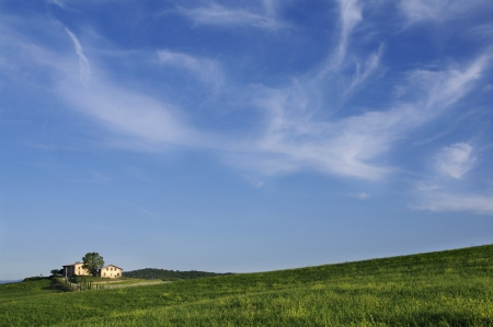 a nice view of tuscan landscape photo