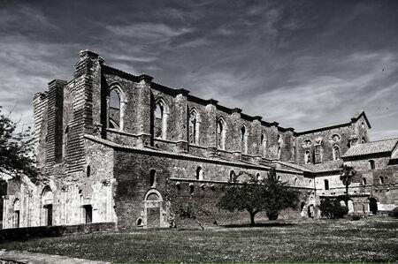 Tuscan,abbey of SanGalgano,Italy Stock Photo