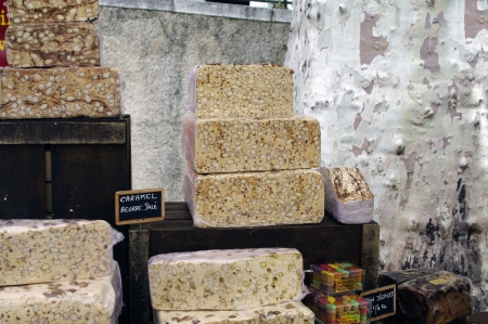 nougat at market in Provence,France photo