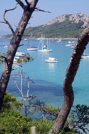 blue sea in Porquerolles,France