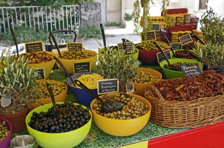 colored market in Provence,France photo