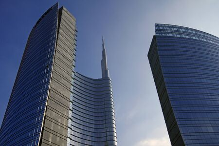 skyscraper in Milan,Italy Stock Photo