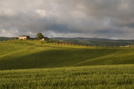 farm and green fields,Tuscany,Italy Stock Photo - 19941598