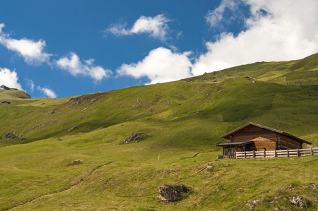 hut on dolomites photo