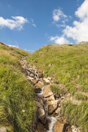 river on italian alps
