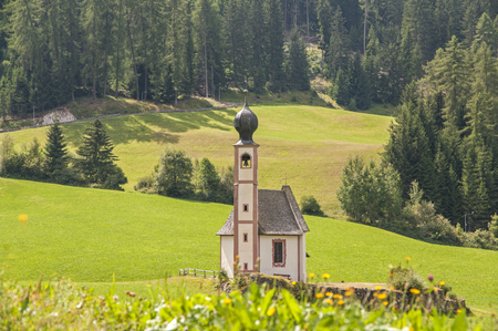 s giovanni church,Odles,south tyrol,Italy  great view of dolomites