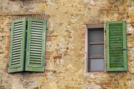 old window in Tuscany,Italy