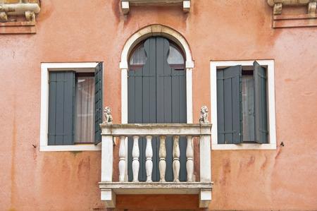 old windows in Venice,Italy Stock Photo