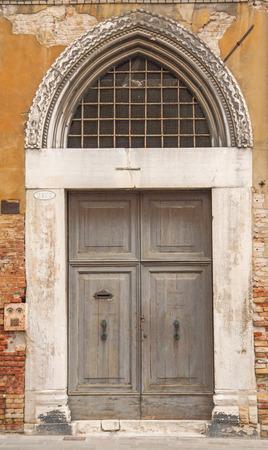 old door in Venice,Italy Stock Photo