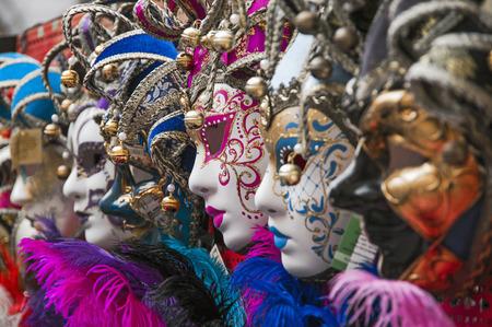 Carnaval maskers in Venetië, Italië