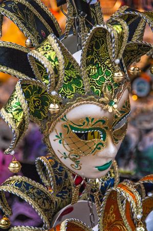 carnival mask in Venice,Italy Stock Photo