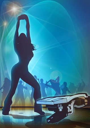 electro: Disco Dancer in die blau Lizenzfreie Bilder