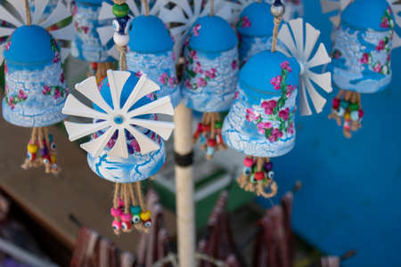 They sell small windmill as a souvenir. The island of Cunda was