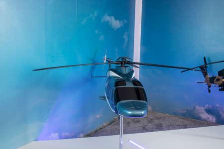 Model of G??kbey helicopter produced at Teknofest festival