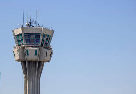 Istanbul, Turkey - September-18,2019: Ataturk Airport Old Flight Control Tower