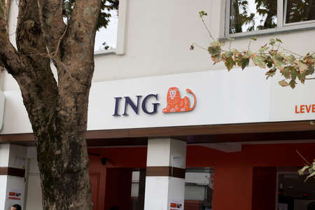 Istanbul, Turkey - November-10.2019: ING Group is a multinational banking company based in the Netherlands. Banco de Imagens - 134760589