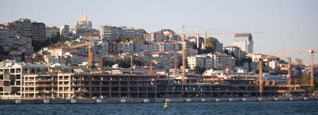 Istanbul, Türkei - September-14.2019: Der Bauprozess des Istanbul Galataport-Projekts.